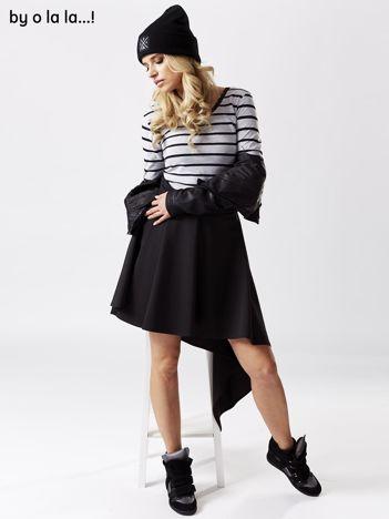 Czarna asymetryczna spódnica BY O LA LA