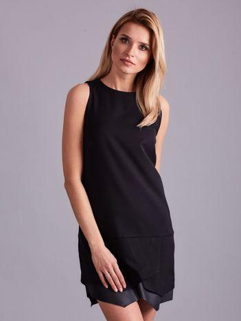Czarna asymetryczna sukienka damska