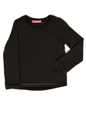 Czarna bluza dziewczęca w gwiazdki