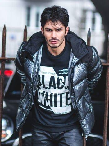 Czarna bluza męska BLACK WHITE