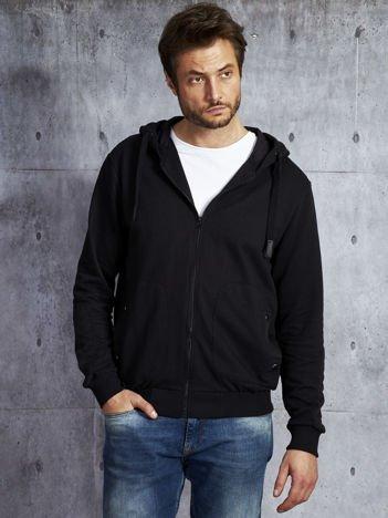 Czarna bluza męska z kieszeniami