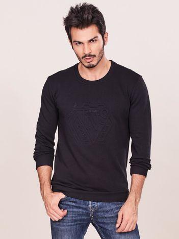 Czarna bluza męska z wypukłym modułem