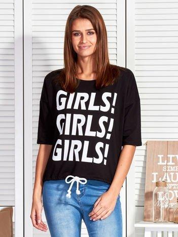 Czarna bluzka GIRLS GIRLS GIRLS