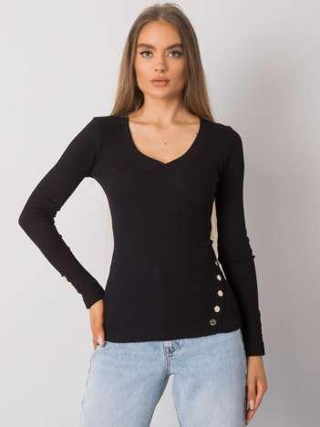 Czarna bluzka prążkowana Abeline RUE PARIS