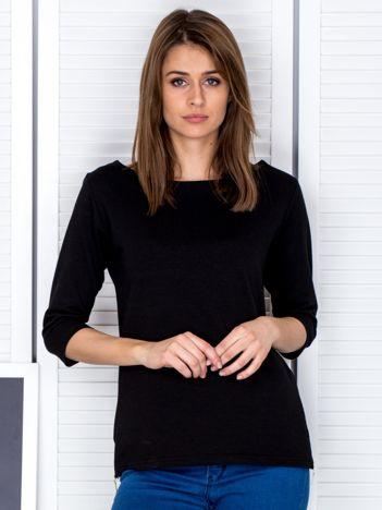 Czarna bluzka z bocznymi suwakami