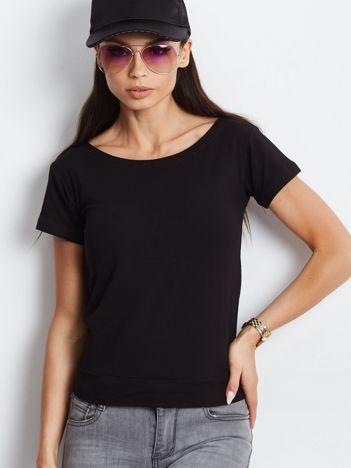 Czarna bluzka z wiązanym tyłem