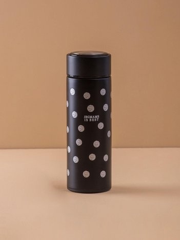 Czarna butelka termiczna ze stali nierdzewnej