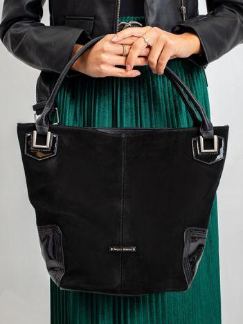 Czarna damska torba na ramię