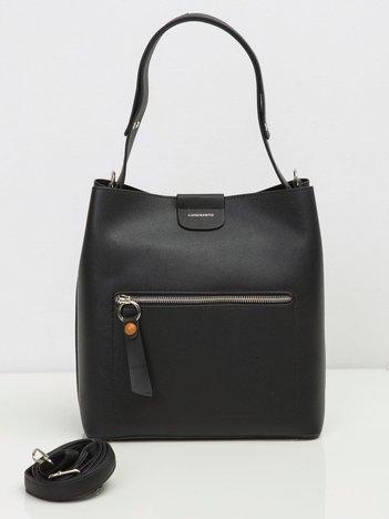 Czarna damska torba ze skóry ekologicznej