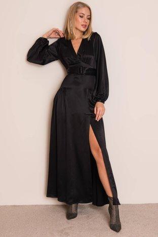 Czarna długa sukienka BSL