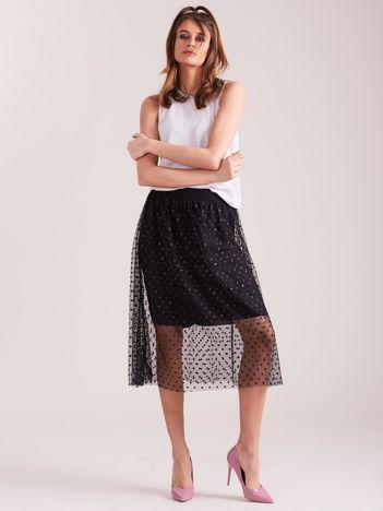 Czarna elegancka spódnica z tiulem