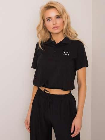 Czarna koszulka polo Annabelle RUE PARIS