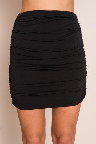 Czarna krótka spódnica BSL
