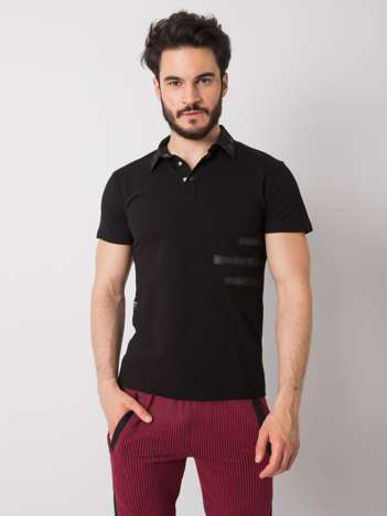 Czarna męska koszulka polo Vincent