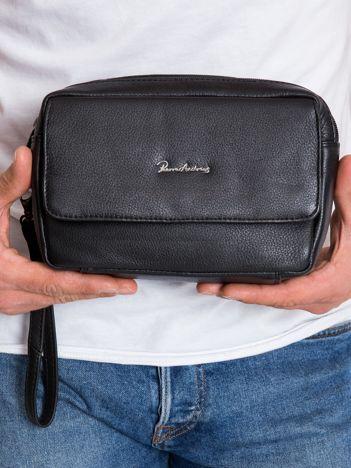Czarna męska torba do ręki