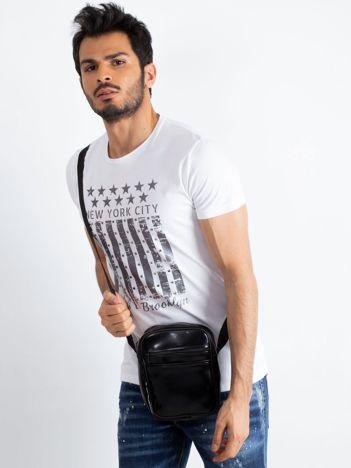 Czarna męska torba listonoszka