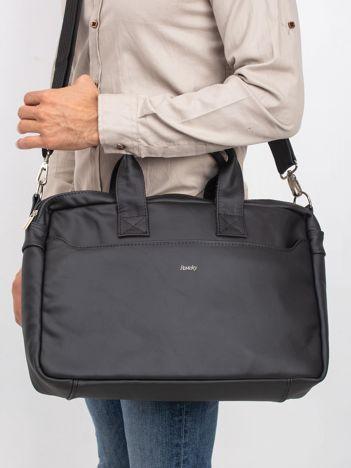 Czarna męska torba ze skóry naturalnej