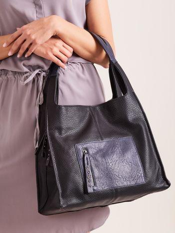 Czarna miękka torba na ramię