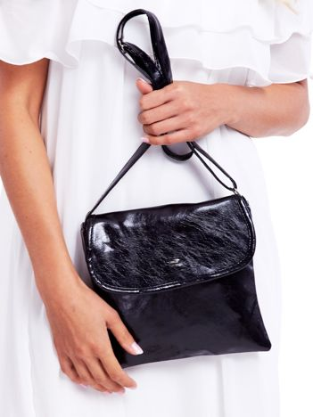 Czarna miękka torebka ze skóry ekologicznej