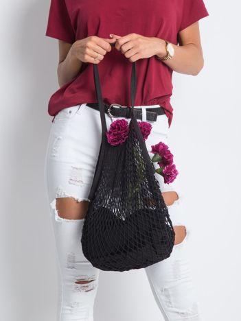 Czarna siatkowa torba