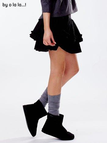 Czarna spódnica mini z falbankami BY O LA LA
