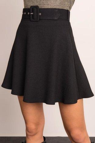 Czarna spódnica z paskiem BSL