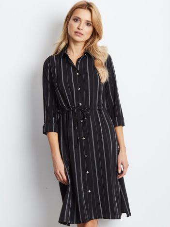 Czarna sukienka Recall