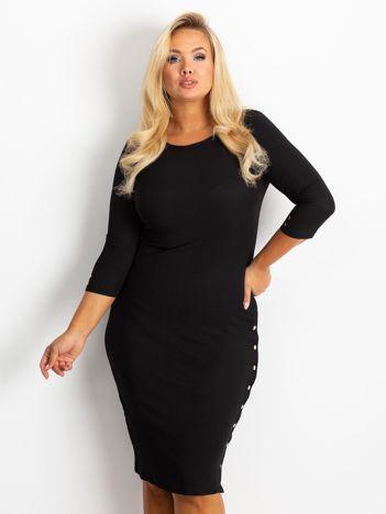 Czarna sukienka plus size Miley