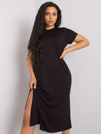 Czarna sukienka plus size Nanette