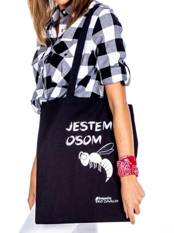 Czarna torba materiałowa JESTEM OSOM