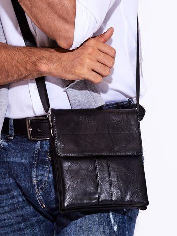 e82308b1e4fac Czarna torba męska z odpinanym paskiem