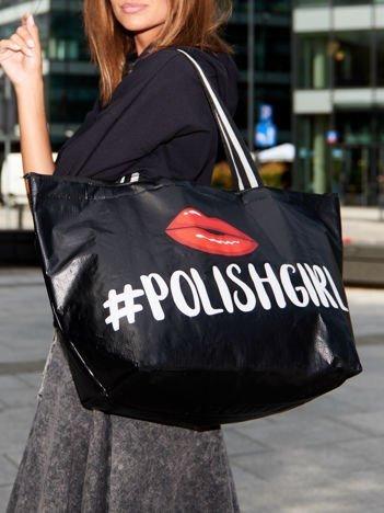 Czarna torba na ramię POLISH GIRL