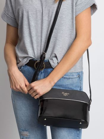 Czarna torebka na suwak