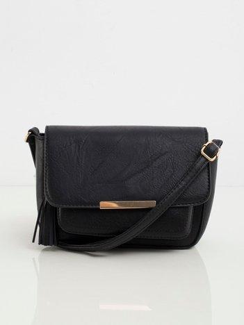 Czarna torebka z klapką