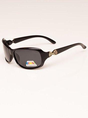 Czarne Damskie Okulary Przeciwsłoneczne POLARYZACYJNE