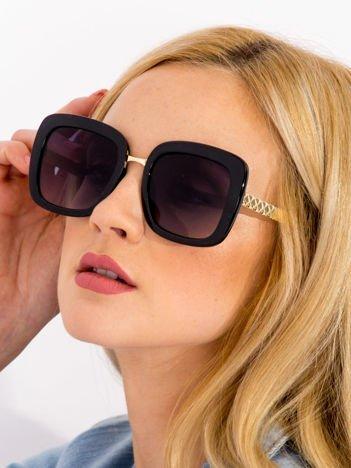 Czarne Damskie Okulary przeciwsłoneczne