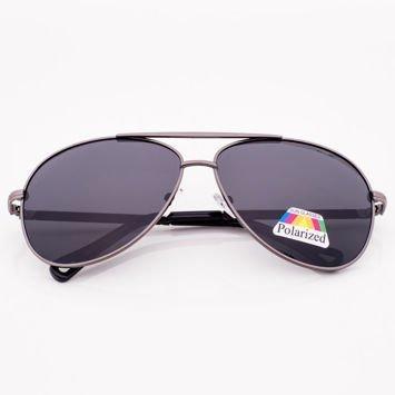 Czarne Okulary POLARYZACYJNE PILOTKI