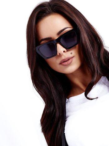 Czarne Okulary Przeciwsłoneczne KOCIE OCZY