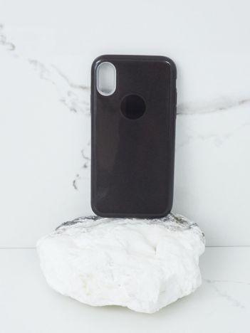 Czarne brokatowe etui do iPhone X