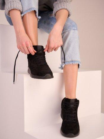 Czarne buty sportowe BIG STAR z ociepleniem i sprężystą podeszwą