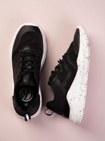 Czarne buty sportowe na sprężystej platformie Kylie