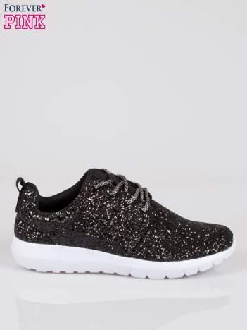Czarne buty sportowe textile Crummy z brokatowym efektem