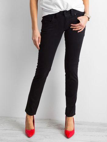 Czarne damskie spodnie regular