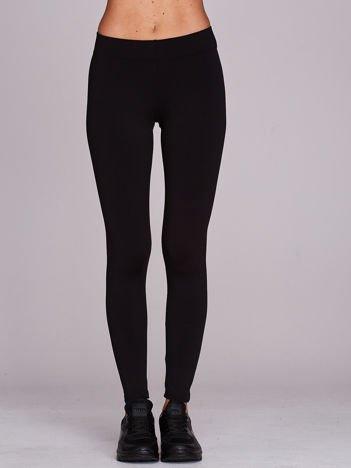Czarne długie cienkie legginsy do biegania