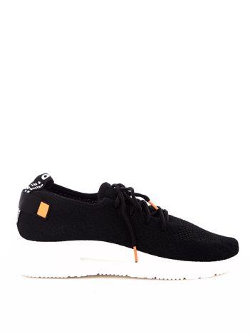 Czarne dzianinowe buty sportowe z poduszką powietrzną