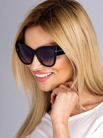 """Czarne eleganckie okulary przeciwsłoneczne """"KOCIE OCZY"""""""