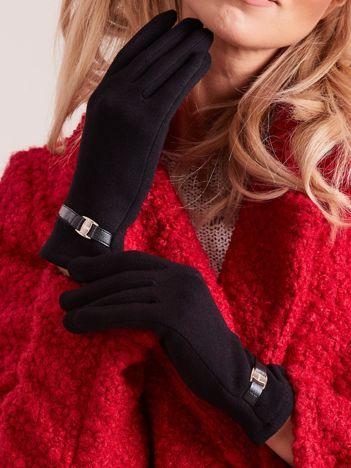 Czarne eleganckie rękawiczki