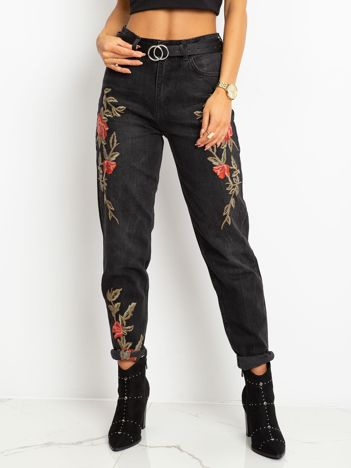 Czarne jeansy Mallory