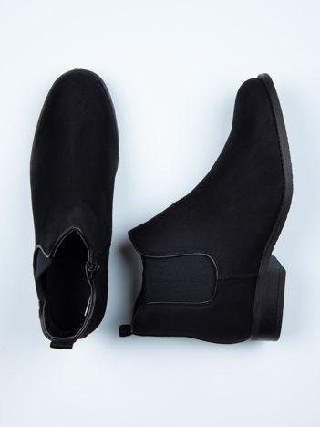 Czarne krótkie botki Diamnetique