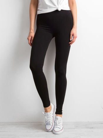 Czarne legginsy damskie basic